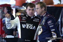 Ryan Newman et Rusty Wallace