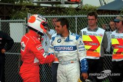 Rubens Barrichello y Juan Pablo Montoya