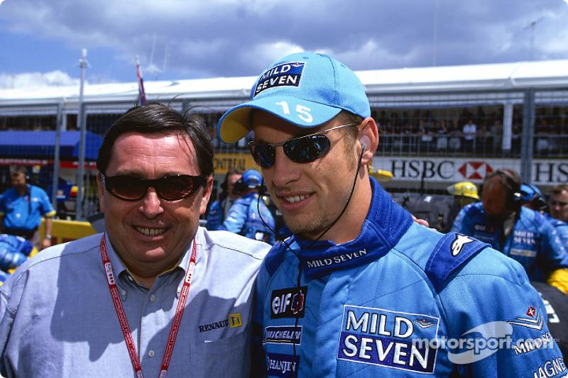 Patrick Faure y Jenson Button
