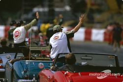 Drivers' parade: local hero Jacques Villeneuve