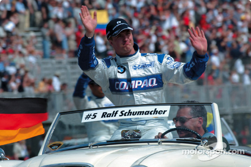 Drivers' parade: Ralf Schumacher