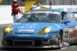 The Luc Alphand Adventures Porsche GT3-RS at the finish line