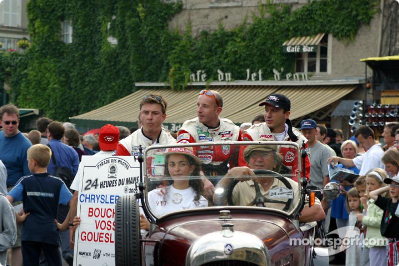 Christophe Bouchut, David Therrien y Patrice Goueslard