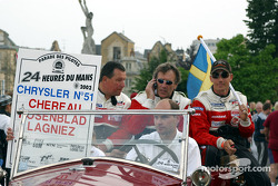Jean-Luc Chereau, Jean-Claude Lagniez y Carl Rosenblad