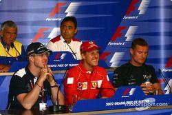 Thursday basın toplantısı: Ralf ve Michael Schumacher, ve David Coulthard