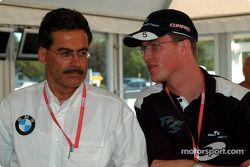BMW Motorsport Direktör Dr. Mario Theissen ve Ralf Schumacher
