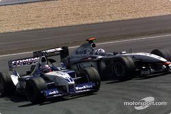 Juan Pablo Montoya ve David Coulthard accident