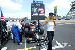 Team Minardi sur la grille de départ