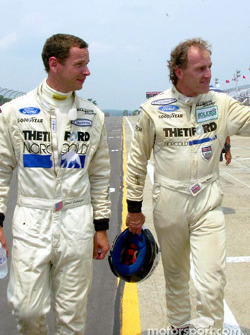 Dyson Racing teammates Butch Leitzinger (left) and James Weaver (right) will make up the front row o