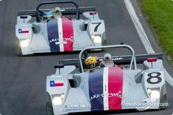 Rand Racing's #8 et #7 Nissan Lolas finissent second et troisième au classement