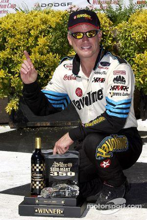 Race winner Ricky Rudd