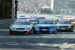 Start: Bernd Schneider, Team HWA, AMG-Mercedes CLK-DTM 2002; Mattias Ekström, Abt Sportsline, Abt-Au