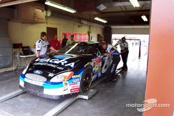 Technical inspection on Mark Martin's car