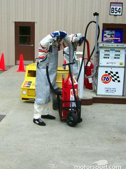 Fuel stops in garage