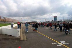 Michigan fans on pitlane
