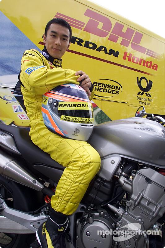 Takuma Sato, un feliz piloto de Honda