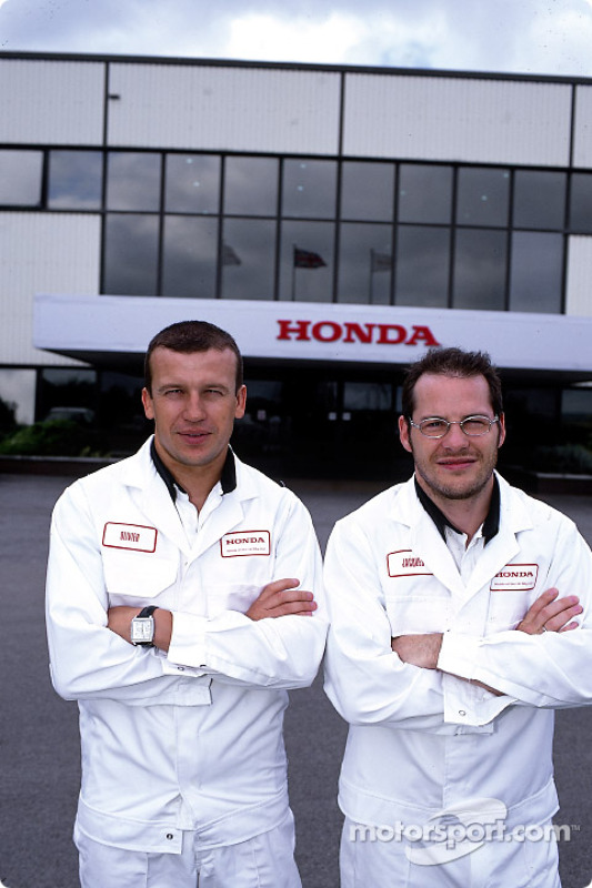 Visit of the Swindon Honda factory to celebrate the 500,000 Honda Civic: Olivier Panis and Jacques V