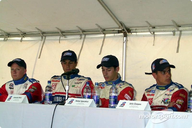 Barber Dodge Pro Series Race press conference: Leonardo Maia, Rafael Sperafico and Julio Campos