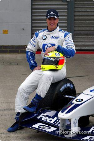 Presentación del nuevo patrocinio de HP en el Williams-BMW: Ralf Schumacher