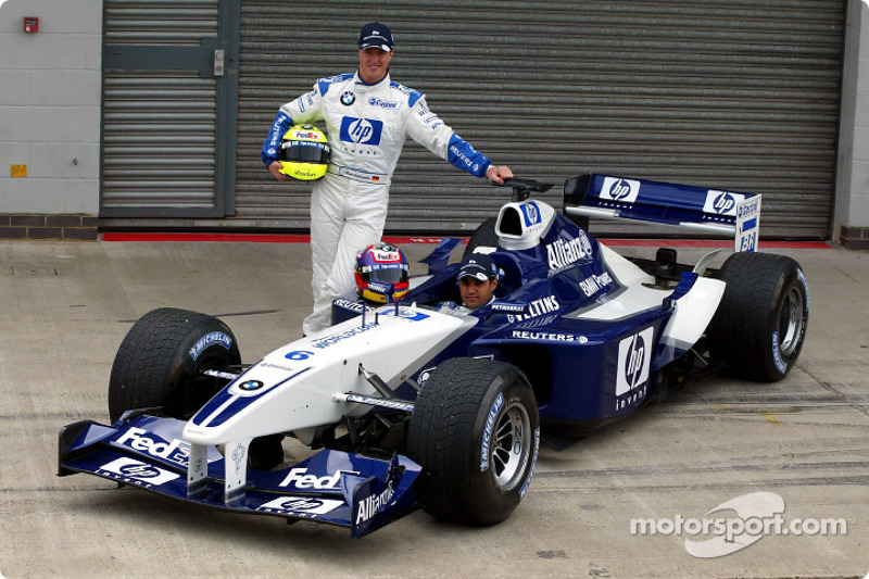 Presentación del nuevo patrocinio de HP en el Williams-BMW: Ralf Schumacher y Juan Pablo Montoya