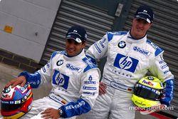 Presentación del nuevo patrocinio de HP en el Williams-BMW: Juan Pablo Montoya y Ralf Schumacher