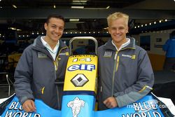 Renault Driver Development program drivers Fabio Carbone and Heikki Kovalainen