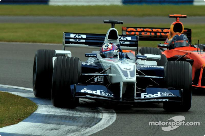 Juan Pablo Montoya and Heinz-Harald Frentzen