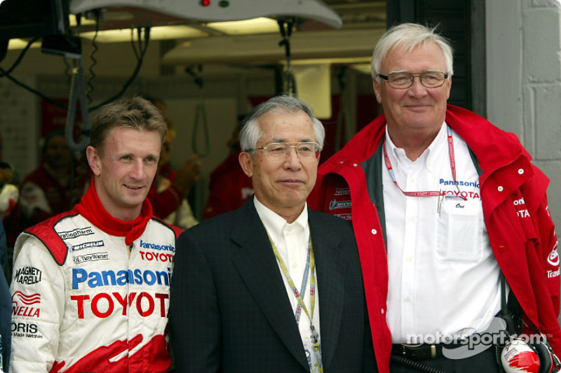 Allan McNish, Mr. Kato (Senior Advisor to the Board, TMC) and Ove Andersson