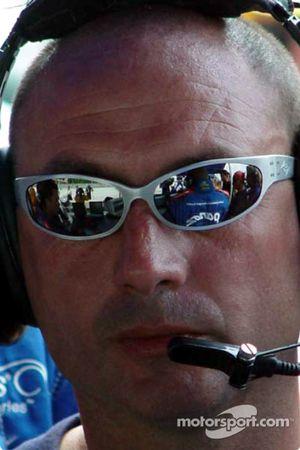 Adrian Fernandez sur la grille de départ