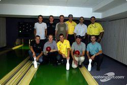 Noche de bols con los pilotos de DTM
