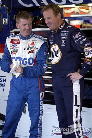 Jeff Burton y Rusty Wallace