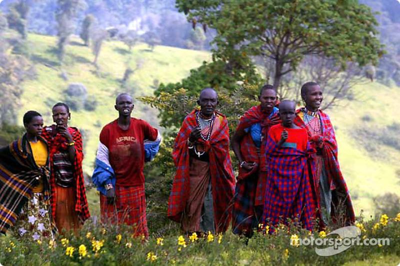 Kenyan people with tartan colors