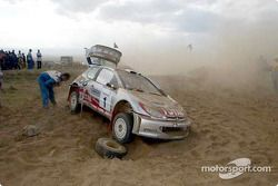 Richard Burns fuera del rally