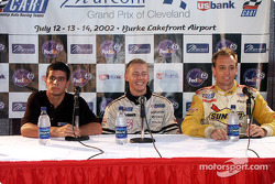 Press conference: race winner Davy Cook with Julio Campos and Marc Breuers
