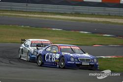 Patrick Huisman, Manthey Racing, AMG-Mercedes CLK-DTM 2001; Thomas Jäger, Persson Motorsport, AMG-Me