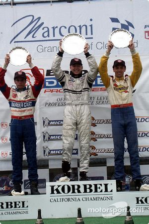 The podium: race winner Davy Cook with Julio Campos and Marc Breuers