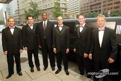 Stars and Stripes party in Washington: Bill Auberlen, Bryan Herta, David Brabham, Gunnar Jeannette and Jan Magnussen