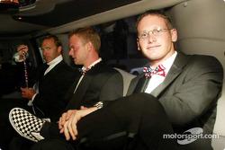 Stars and Stripes party in Washington: Bill Auberlen, Jan Magnussen and Gunnar Jeannette