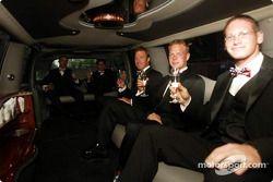 Stars and Stripes party in Washington: David Brabham, Bryan Herta, Bill Auberlen, Jan Magnussen and
