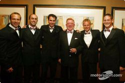 Stars and Stripes party in Washington: Bill Auberlen, David Brabham, Bryan Herta, Don Panoz, Jan Magnussen and Gunnar Jeannette