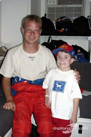 Jan Magnussen and a new fan