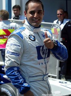 El ganador de la pole Juan Pablo Montoya