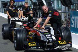 Team Minardi going to technical inspection