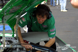 Joe Gibbs Racing crew member
