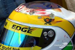 El casco de Giancarlo Fisichella tras el accidente