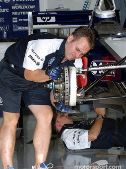 Área de garage del Equipo Williams-BMW