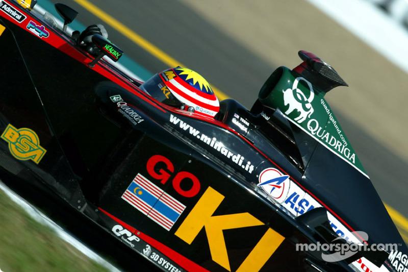2002: Энтони Дэвидсон вместо Алекса Йонга (Minardi, Гран При Венгрии и Бельгии)