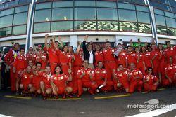 Michael Schumacher, Jean Todt, Ross Brawn, Luca di Montezemelo und das Ferrari-Team