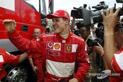 Race winner and 2002 World Champion Michael Schumacher
