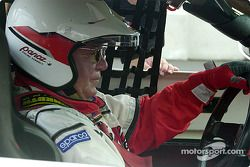 William Shatner behind the wheel